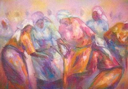Dance 2 Fijioku oil on canvas