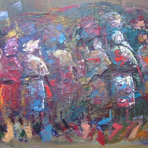 Exodus Within - Oil on canvas.