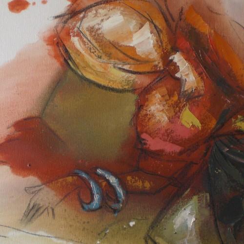 When Mama danced - Oil-on-canvas..